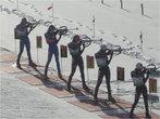 Последняя стрельба из положения стоя: три немки, шведка и наша Оля Зайцева (5)