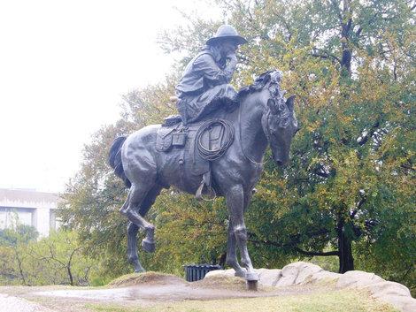 Памятник ковбою.