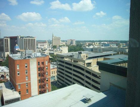 Вид на Сан-Антонио из окна гостиницы.