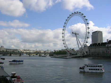 Темза и колесо обозрения London Eye