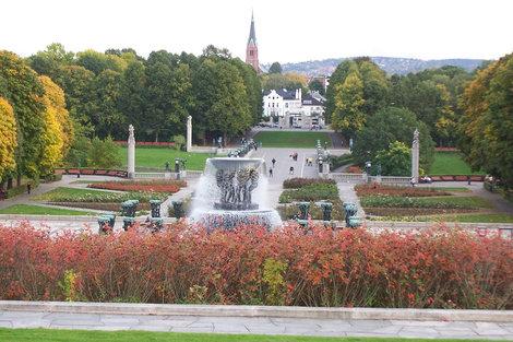 Парк Вигеланд, где находятся более 200 скульптур Густава Вигеланда.