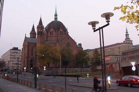 Католический собор в центре Осло.