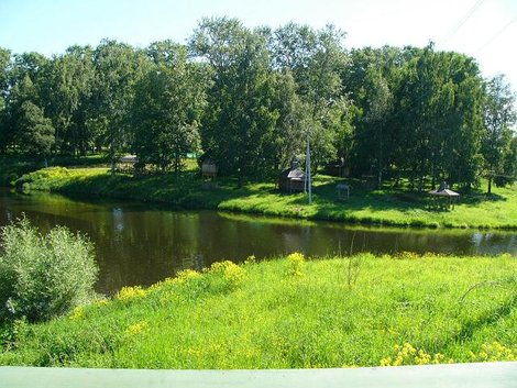 20. Красивый зеленый уголок на берегу ручья Каменского