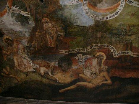 37. Росписи церкви Дмитрия на Крови в Угличском кремле