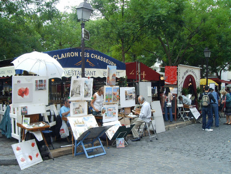 Площадь Тертр. Уличные художники