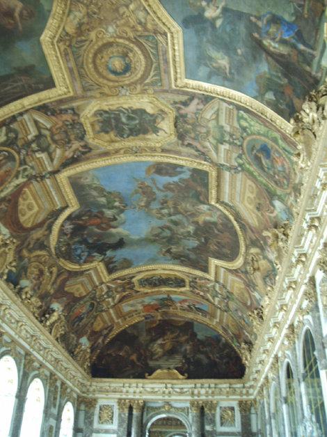 Потолок зеркального зала