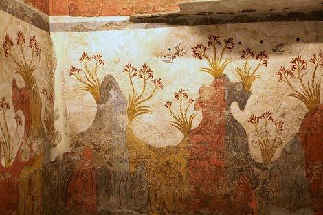 Живопись из санторинского Акротири (минойская цивилизация)