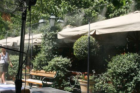 Вид ресторанной площади
