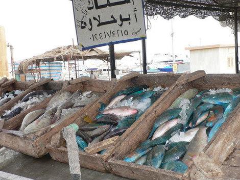 Рыбный рынок в Хургаде.