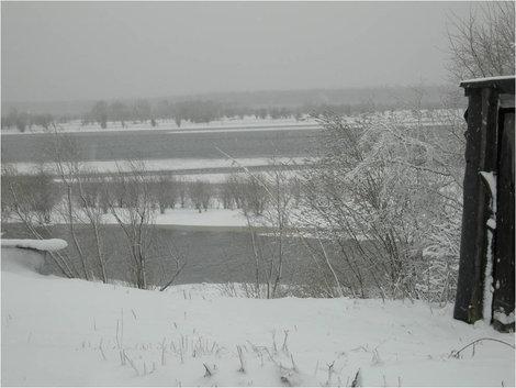В окрестностях Сургута зимой