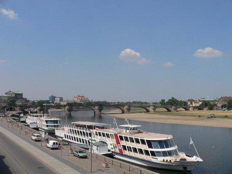 река Эльба, Дрезден.
