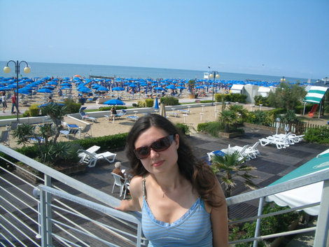 На фоне пляже