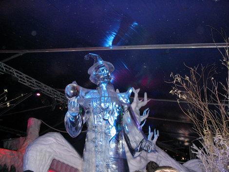 На выставке ледяных скульптур