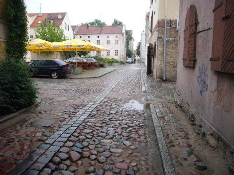 В старой части Клайпеды.