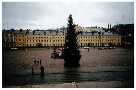 Хельсинки. Рождественская елка на Сенатской площади