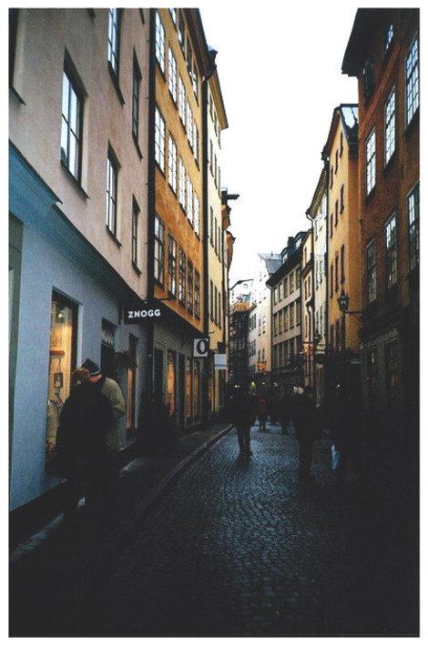 Стокгольм. Средневековая улочка старого города (Гамла Стан)