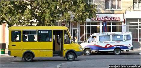 Украинские маршрутки, переделанные из Газелей