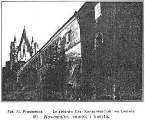 Новомалинский замок на старом фото