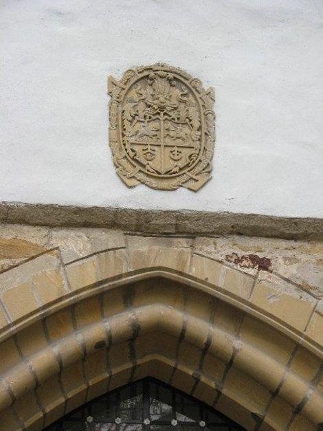 Герб князей Острожских на Сторожевой башне