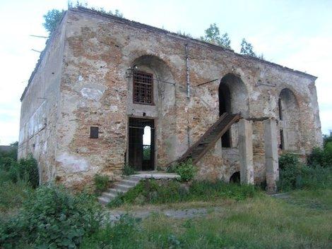 Руины острожской синагоги
