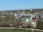 Вид на Раквере с высоты крепости.