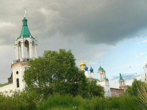 03. Спасо-Яковлевский монастырь из-за кустов, служивших нам надежным прикрытием
