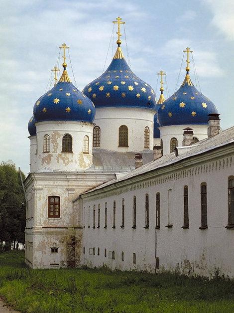 Голубые купола Свято-Юрьева монастыря.