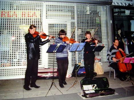 Уличные музыканты на Дротнингатан