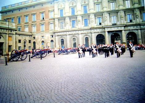 Торжественный развод караула возле Королевского дворца