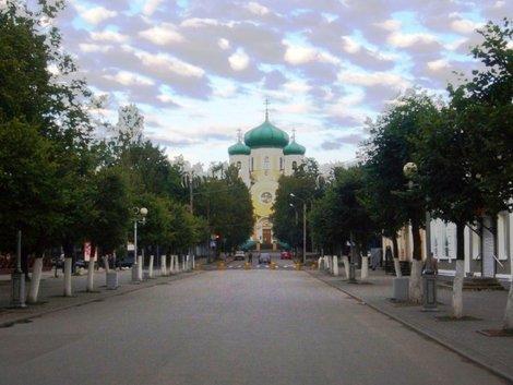 Пешеходная Соборная улица.