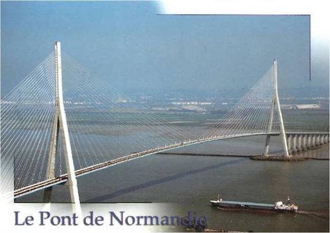 Мост Нормандия (с открытки)