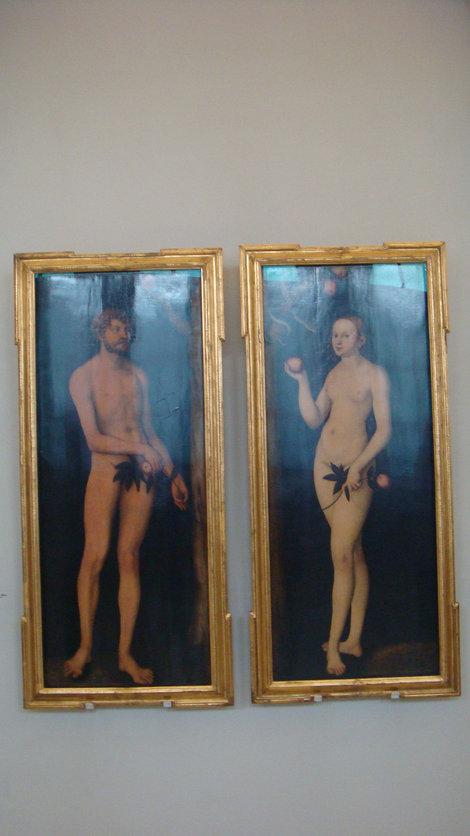 Лукас Кранах. Адам и Ева