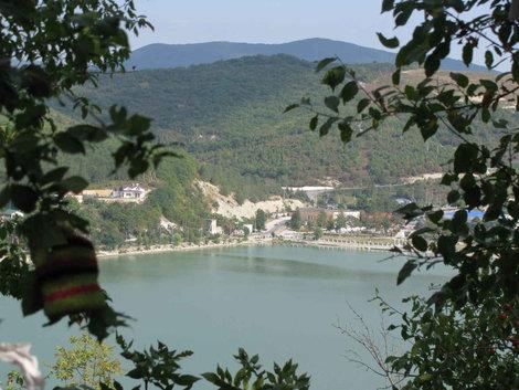 Озеро Абрау с высоты