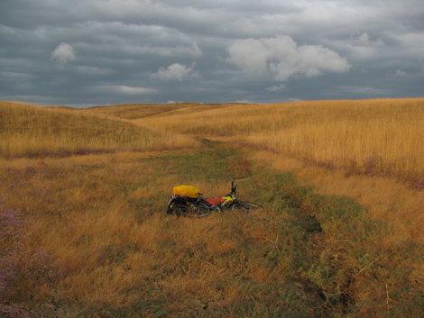 Карабетова гора: велосипед в травах