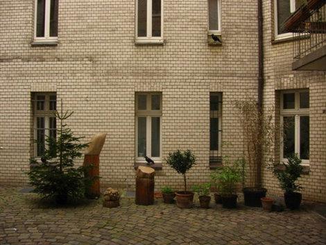 Скульптурные вороны на окнах