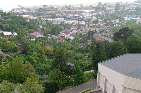 Поселок Дагомыс с высоты птичьего полета