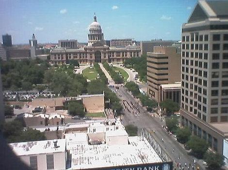 Вид на Капитолий из окна гостиницы.