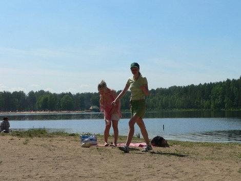 Отдых на Коркинском озере. Ехать по Мурманскому шоссе.