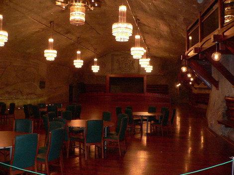 Банкетный зал в шахте.