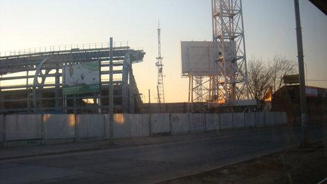 Строящийся стадион ярославского