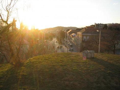 Вид с холма в центре города