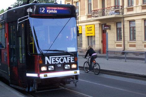 Мой любимый трамвай №12 — по всему центру  Осло!