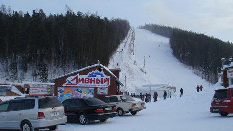 Слаломная гора в Дивногорске