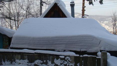 Вот так снега навалило