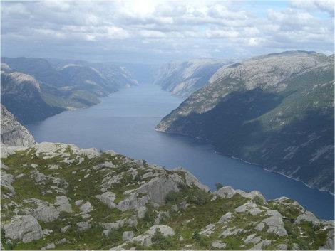 Люсефьорд с высоты