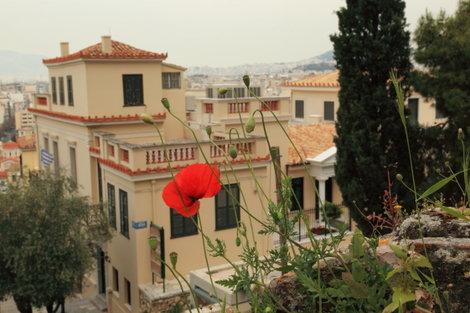 Вид на Плаку со склона Акрополя