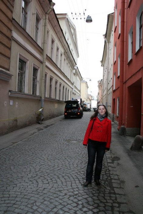 Начало улицы Репина от Румянцевского сада между 1-ой и 2-ой линиями В.О.
