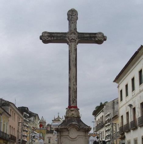 Крест не далеко от