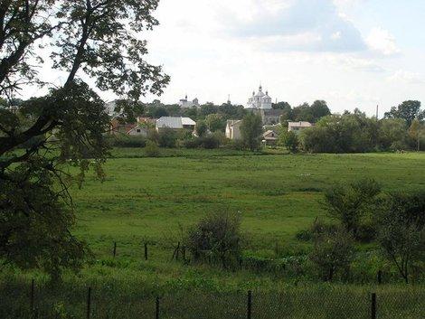 Вид на город и церковь св. Николая