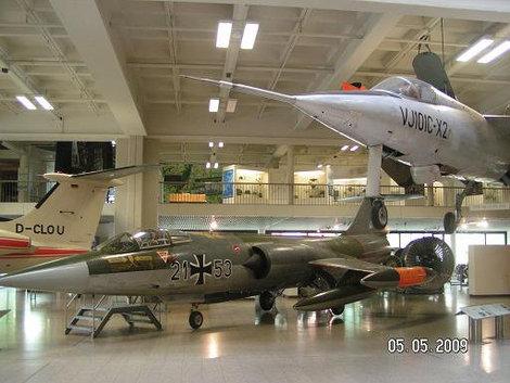 Один из залов, посвящённых авиации